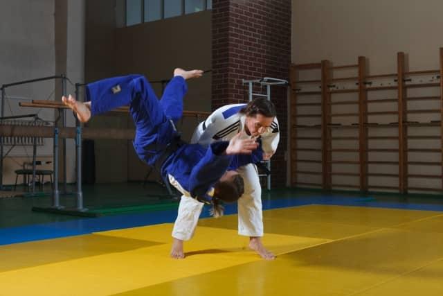 lutteurs de judo